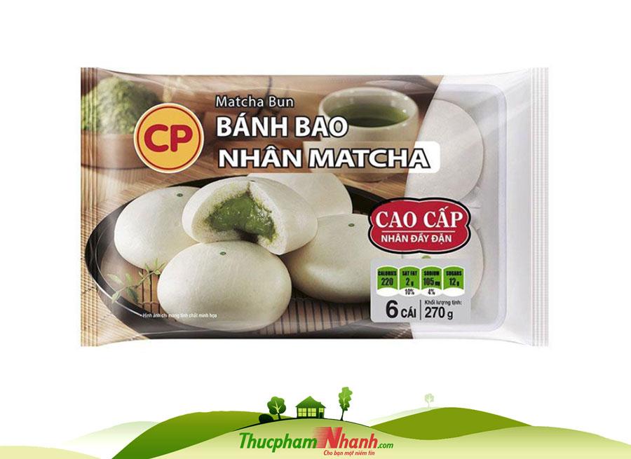 Bánh bao nhân Matcha CP - khay 270g
