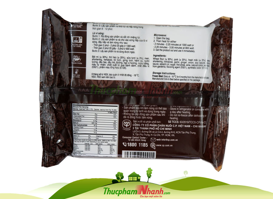 Bánh bao sữa nhân thịt BBQ CP