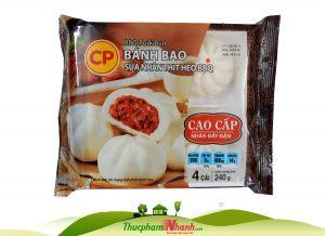 Bánh bao sữa nhân thịt heo BBQ CP - khay 240g