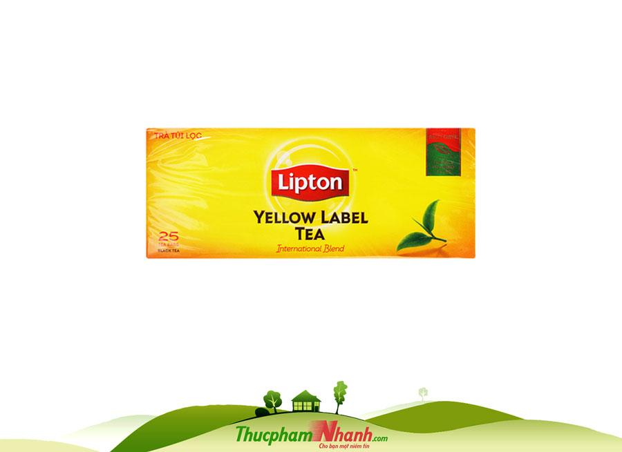 Trà túi lọc Lipton 25 túi - hộp 50g