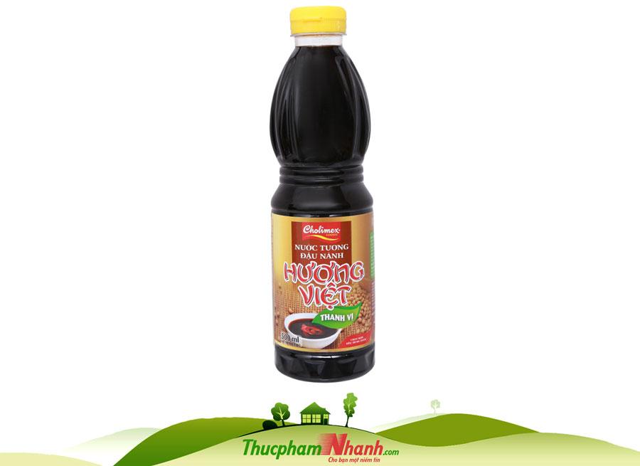 Nước tương thanh vị Hương Việt Cholimex chai 500ml