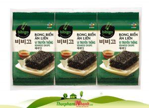 Rong biển ăn liền vị truyền thống CJ Cầu Tre Gói 5g