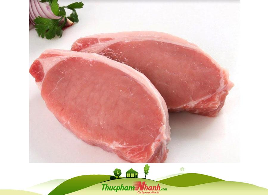 Thịt thăn lưng heo (cốt lết không xương)
