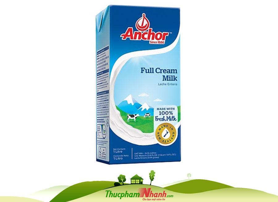 Kem nấu tiệt trùng Anchor (cooking cream) - Hộp 1 lít