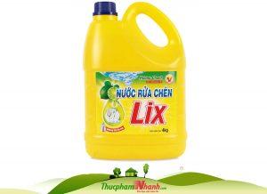 Nước rửa chén Lix 4kg