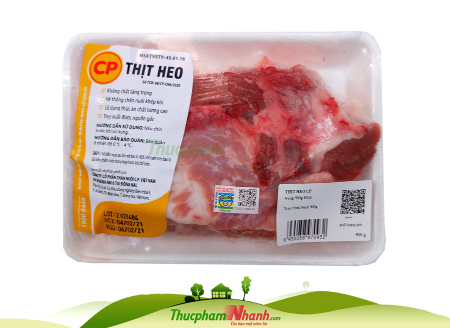 Thit Nong Heo Cp Khay 500g