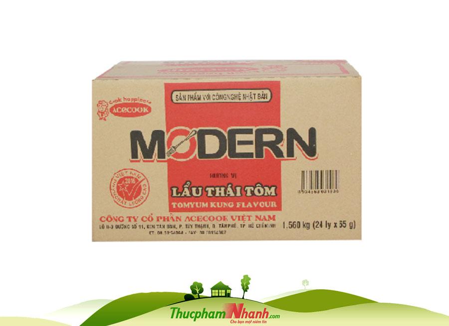 Mi Ly Modern Vi Lau Thai Tom 67g Thung 24 Ly