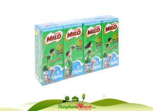 Sua Milo Lua Mach It Duong Loc 4 Hop