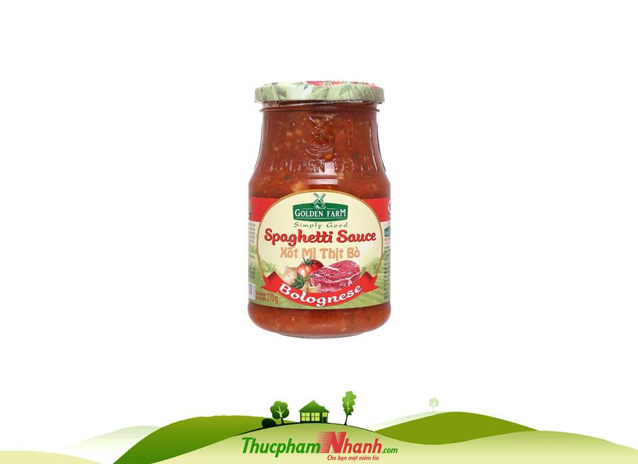 Xot Spaghetti Thit Bo Golden Farm Chai 370g